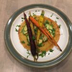 Socca Pizza w/ Za'atar Roasted Carrots & Avocado
