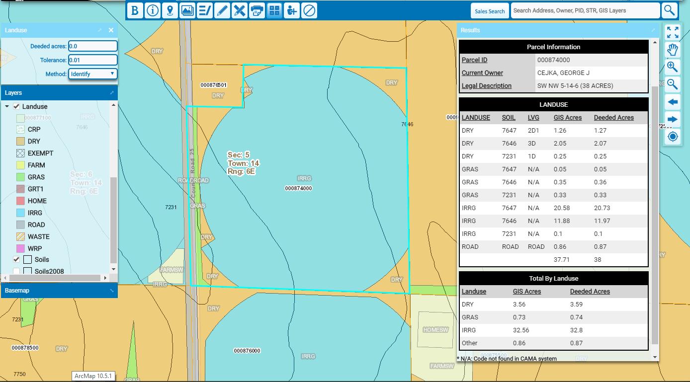 Using the gWorks Land Use Calculator Tool in Nebraska