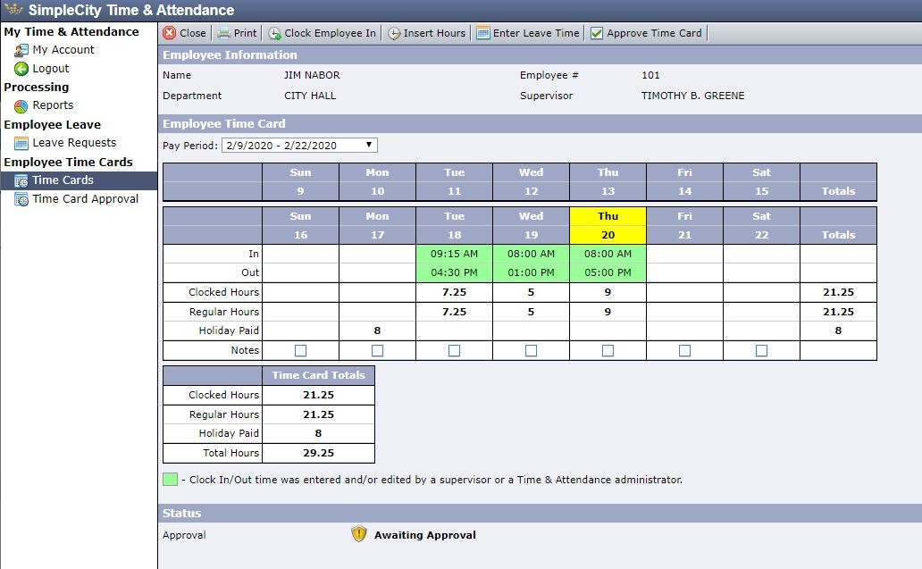 (Re)Capturing Time with SimpleCity Payroll Time & Attendance A Case Study – Hiawatha, KS