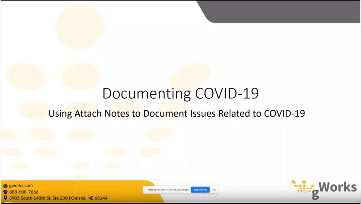 Using Notes to Document COVID-19