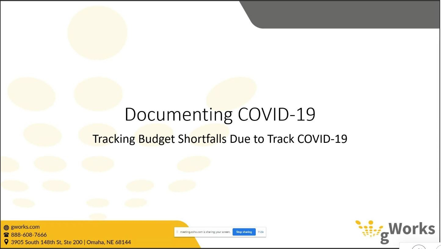 General Ledger: Tracking Budget Shortfalls Due to COVID-19