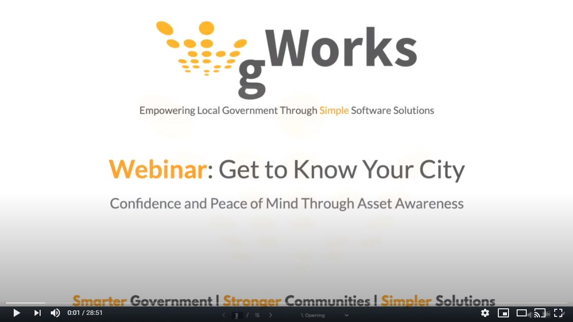 Webinar: Get to Know Your City – Confidence and Peace of Mind Through Asset Awareness