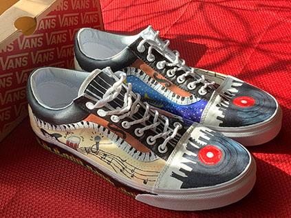 Custom painted Van tennis shoes