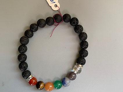 Mala bracelet with lava stones