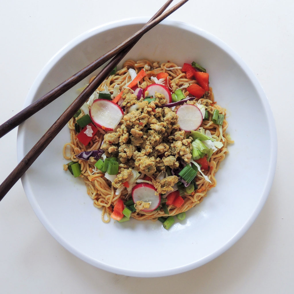 Mighty Spark's Sweet Thai Chicken Rice Noodles
