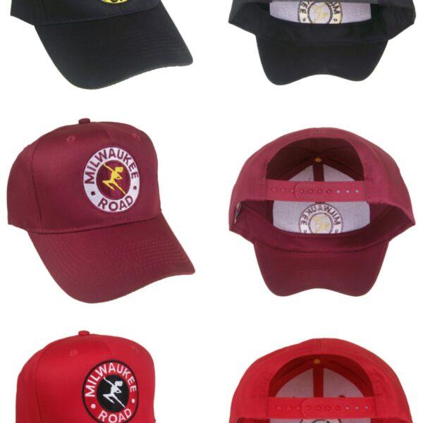 The Milwaukee Road Hiawatha Embroidered Railroad Cap Hat #40-2255 COLOR CHOICE