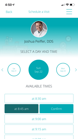 Schedule With A Dentist On Your Phone