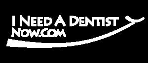 I Need A Dentist Now.com white logo
