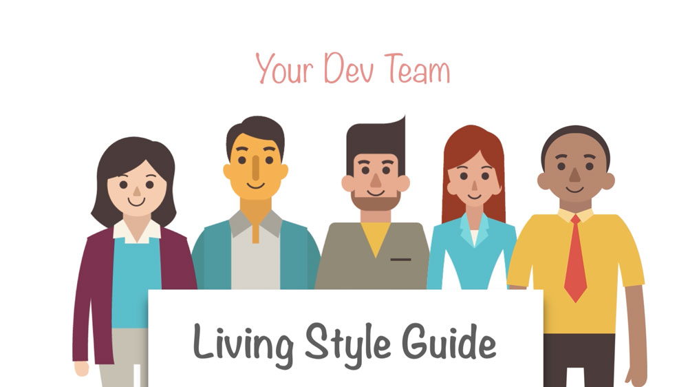 The development team using the living style guide as a communication tool