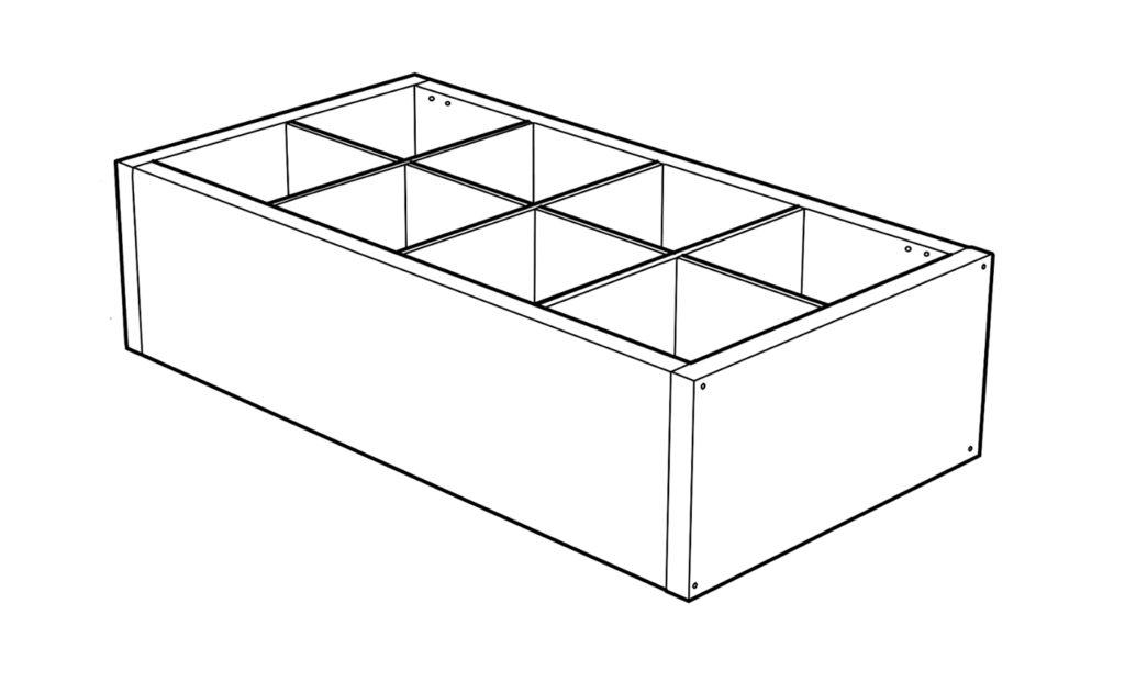 Example of the IKEA kalax cabinet modular design
