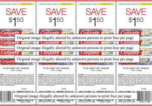 Colgate-Palmolive Fraud Coupon