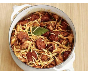 Sausage and Chicken with Vermicelli