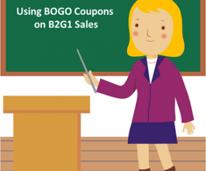 Using BOGO Coupons on B2G1 Sales