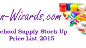 School Supply Stock Up List 2015