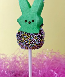 Chocolate Dipped Peep Pops