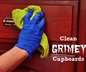 DIY Wooden Kitchen Cabinets Cleaner