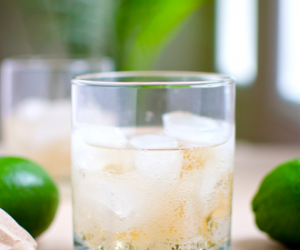 Ginger Ale with Whiskey and Lime