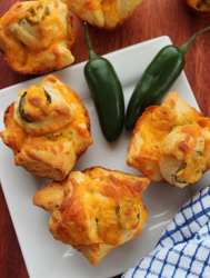 Jalapeno Cheddar Pull Apart Rolls