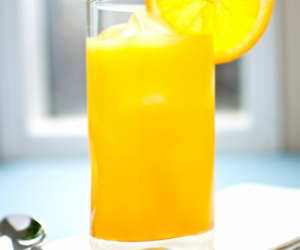 Rum Cocktail with Mango Juice and Fresh Orange Juice
