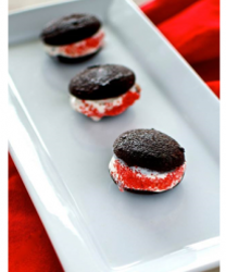 Valentines Day Brownie-Cookie Ice Cream Sandwiches
