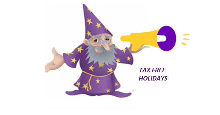 Tax Free Holidays Wizard