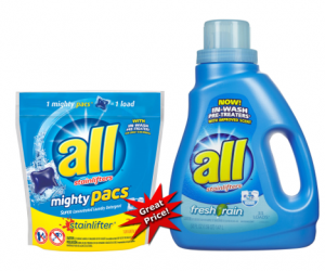 1 CVS Deal - all Detergent & Pacs