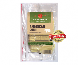 1 Publix Deal - Applegate Sliced Cheese