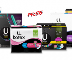 1 Publix Deal - U by Kotex Products Free