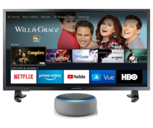 Insignia Smart TV and Echo Dot