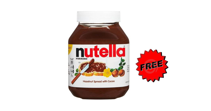 High Value Coupon - Free Nutella