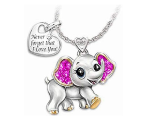 Lucky Baby Elephant Necklace