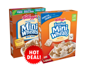 1 Target Deal - Kellogg's Frosted Mini Wheats Cereals
