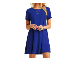 Casual Mini Dress with Short Sleeves - 6 Colors