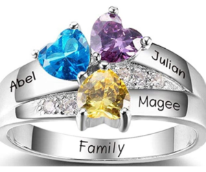 Simulated Birthstones Mothers Ring