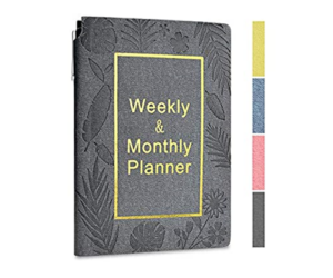 Blank Monthly Weekly Planner, 4 Colors