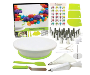 Cake Decorating Set & Candy Molds, 46 Pieces