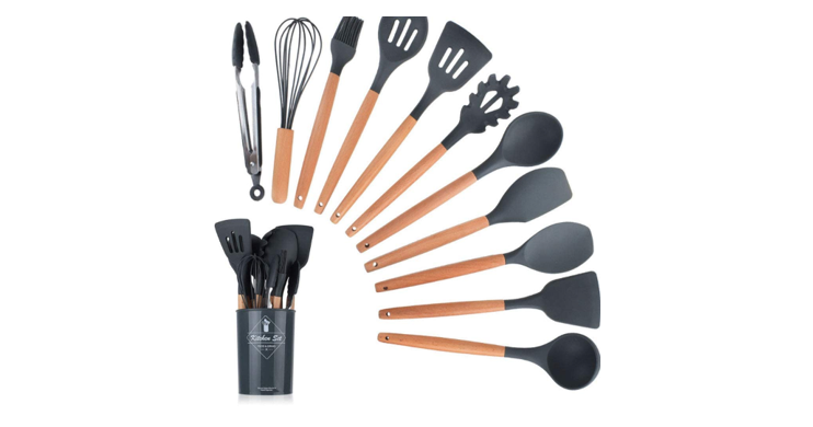Cooking Utensils Barrel 11 Piece Sets