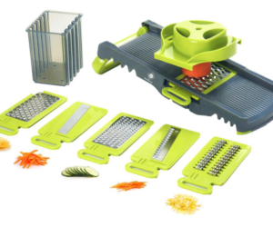 Foldable Kitchen Grater with 6 Attachments