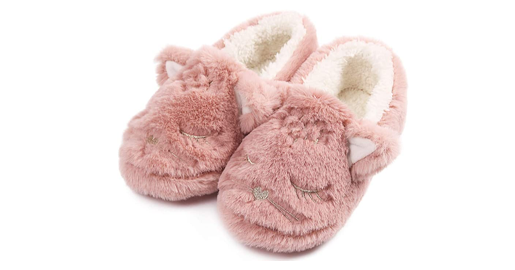 Fuzzy Slippers for Women, in Cat, Bunny or Bears