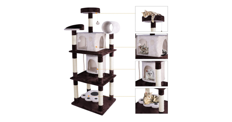 Multi Level Cat Tree & Condo Play House
