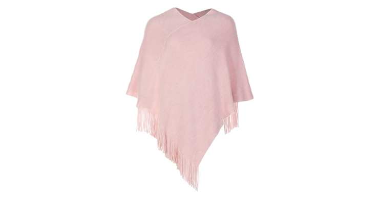 Poncho V-Neck Sweater for Women
