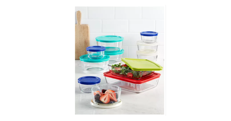 Pyrex Storage Containers Set, 22 Piece