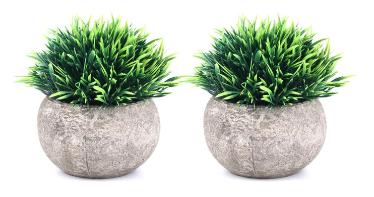 Realistic Fake Plants Home Decor 2 Pack