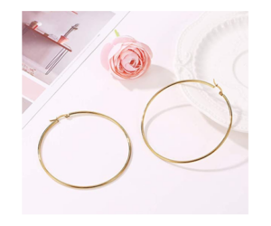 Round Hoop Earrings, Gold Plate over Sterling