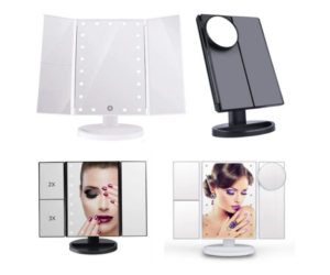 Touch Screen LED Makeup Mirror & Stand