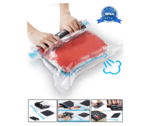 Travel Space Saver Bags - No Vacuum Needed