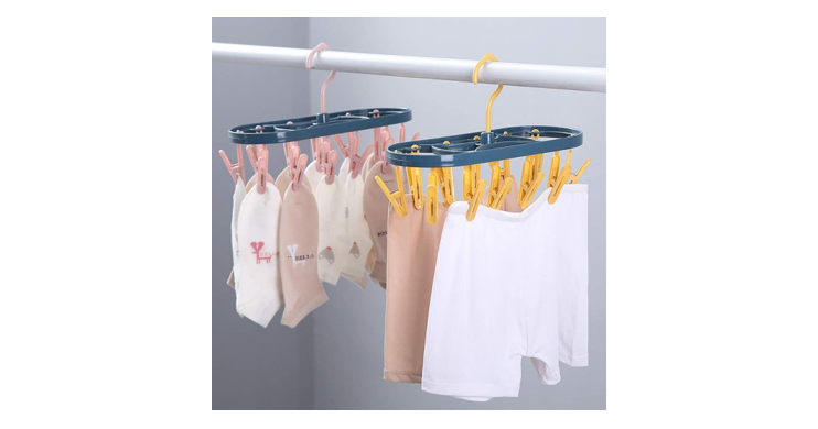 Clip Drip Clothesline Carousel, Holds Up to 12