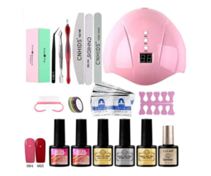 Gel Nails DIY Beginner Kit with UV Light