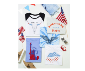 Patriotic Graphic Tees for Women