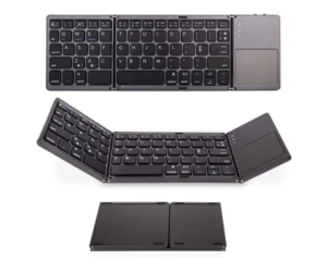 Portable Bluetooth Keyboard for Phones, Tablets & More